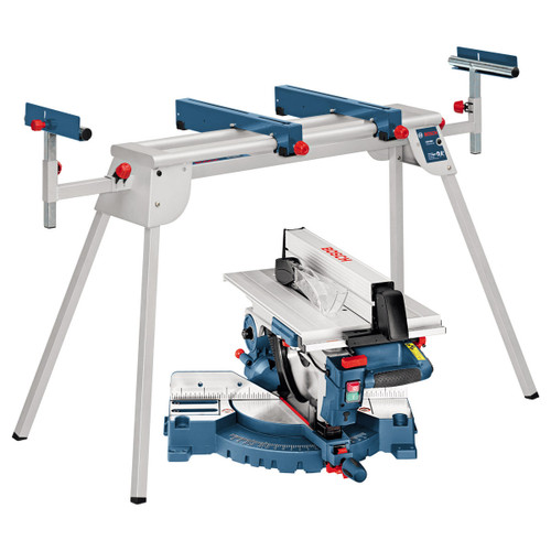 Buy Bosch GTM12 + GTA2600 - Combination Saw 110V with Legstand at Toolstop