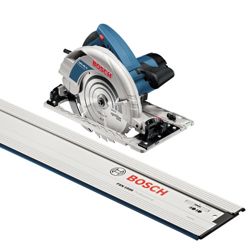 Bosch GKS85G + FSN1600 - Handheld Circular Saw 110V in L-BOXX with 1600mm Guiderail - 3