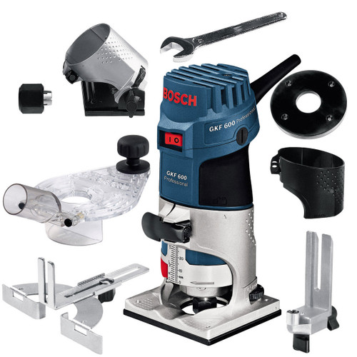 Bosch GKF600 1/4in Palm Router with Accessories 240V - 6