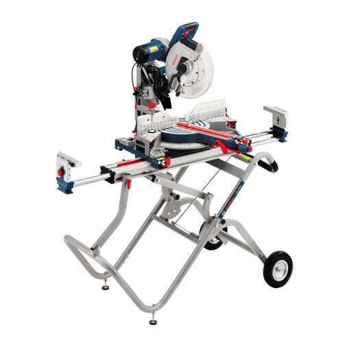 "Buy Bosch GCM12GDL 12"" Dual Bevel Glide Mitre Saw + GTA 2500W Mitre Saw Stand 240V at Toolstop"