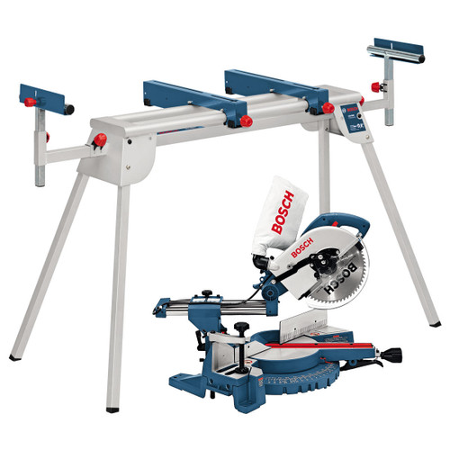 Buy Bosch GCM10S + GTA2600 - Compound Sliding Mitre Saw 110V + Legstand at Toolstop