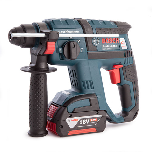 Bosch GBH 18V-EC 18V SDS Plus Rotary Hammer Drill (1 x 4.0Ah Battery) - 3