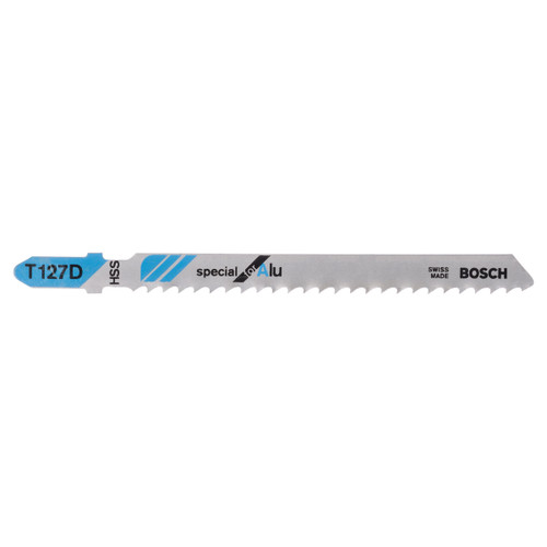 Bosch T127D (2608631017) Aluminium Cutting 3 - 15mm Jigsaw Blades (5 Pack) - 1
