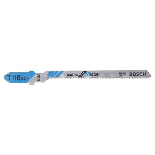 Bosch T118EOF (2608634237) Jigsaw Blades - Flexible for Metal (5 Piece) - 1
