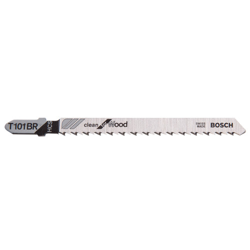 Bosch T101BR Jigsaw Blades HCS Clean for Wood (5 Pack) - 5