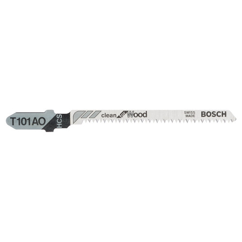 Bosch T101AO Clean Wood Cutting 1.5 - 15mm Jigsaw Blades (5 Pack) - 1
