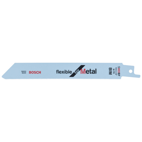 Bosch S922EF Flexible Metal cutting 1.5 - 4mm Reciprocating Saw Blade 150mm (5 Pack) - 1