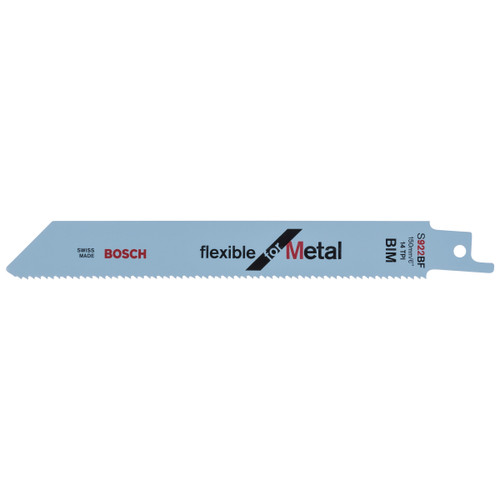 Bosch S922BF (2608656014) Reciprocating Saw Blade 150mm For Metal (5 Pack) - 1