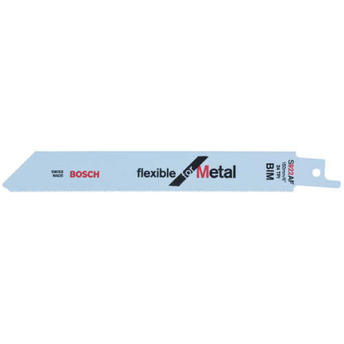 Bosch S922AF (2608656013) Thin Metal cutting 0.7 - 3mm Reciprocating Saw Blade 150mm (5 Pack)