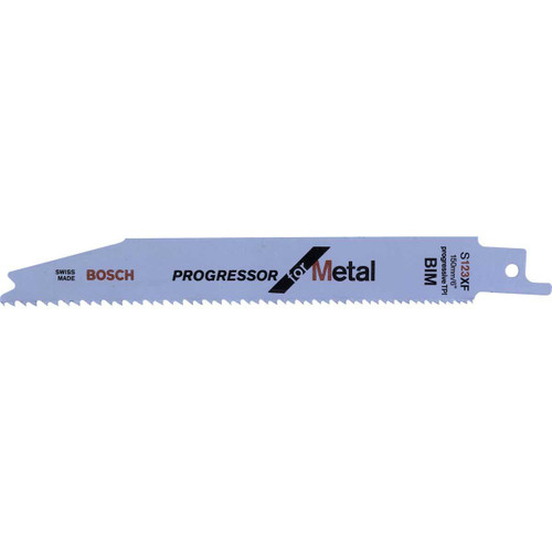 Bosch S123XF (2608654402) Progressor Reciprocating Saw Blade for Metal 150mm (5 Pack) - 1