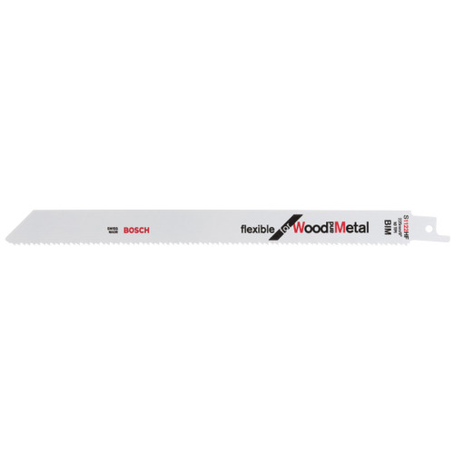 Bosch S1122 HF (2608656021) Flexible Reciprocating Saw Blade For Wood & Metal 225mm (5 Pack)