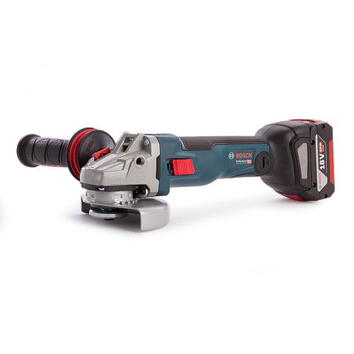 Bosch GWS 18V-125 SC Connected Brushless Heavy Duty Angle Grinder (2 x 6.3Ah + 1 x 5.0Ah Batteries) - 4