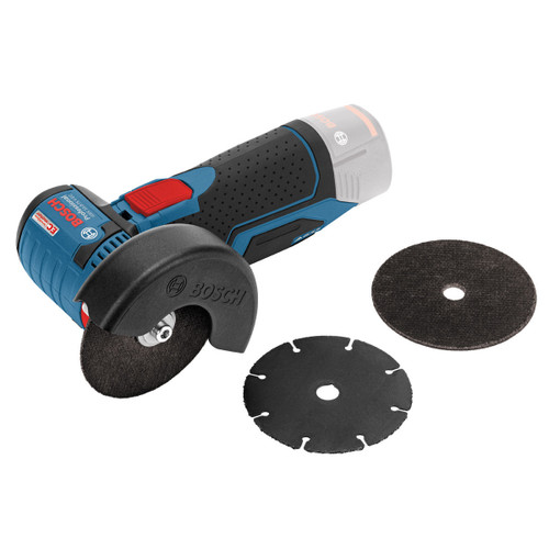 Buy Bosch GWS 10.8-76 V-EC Mini Grinder 76mm (Body Only) with 3 Discs  at Toolstop