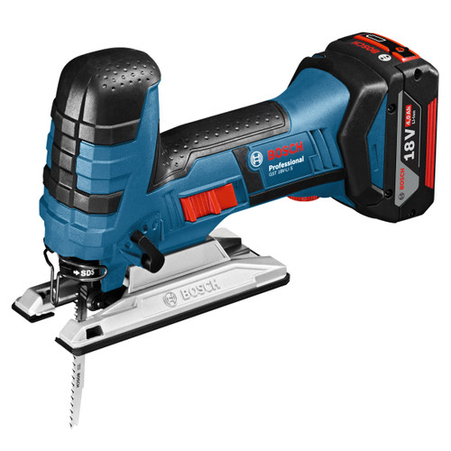 Bosch GST18VLIS 18V Cordless Jigsaw with Bow Handle (2 x 4.0Ah Batteries) with 25 x Jigsaw Blades  - 6