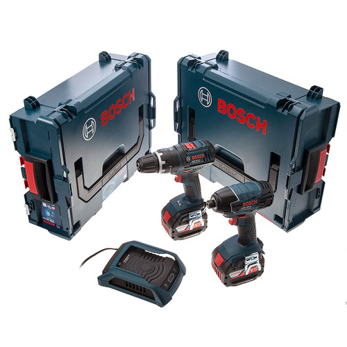 Bosch GSB18V-LI, GDR18V-LI with Wireless Charging System in L-Boxx (2 x 4.0Ah Batteries) - 3