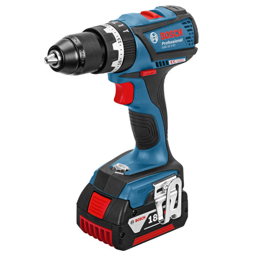Buy Bosch GSB18VEC5 18V 2-Speed Brushless Combi Drill (2 x 5.0Ah Batteries) at Toolstop
