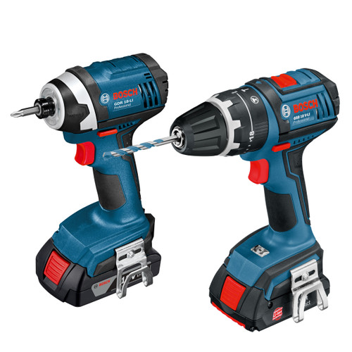 Buy Bosch 0615990GD2 18V Dynamic Series Cordless Combi Drill + Impact Driver (2 x 1.5Ah Batteries) in L-Boxx at Toolstop