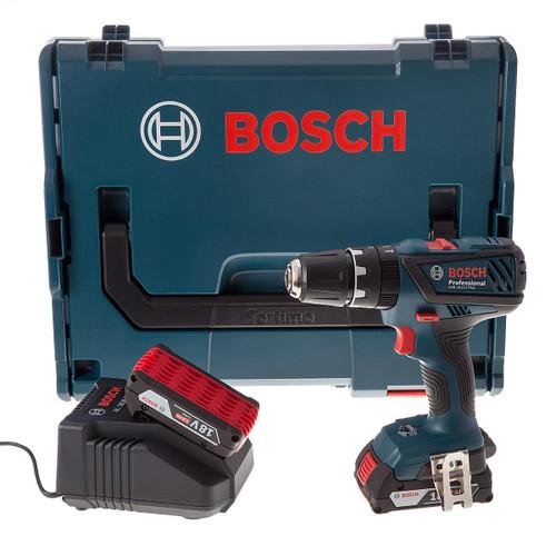 Bosch GSB 18-2-LI Plus Professional Cordless Combi Drill (2 x 2.0Ah Batteries) - 6