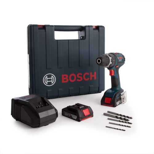 Bosch GSB1800 06019E7172 18V Cordless Combi Drill (2 x 2.0Ah Batteries) with 5 Piece Drill Set - 4