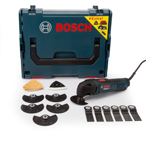 Bosch GOP250CEC2LB Professional Multicutter 240V + Accessories In L-Boxx - 8