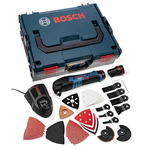 Bosch GOP10.8V-LI 10.8V Li-ion Multicutter in L-Boxx with 36 Accessories (2 x 2.5Ah Batteries) - 6