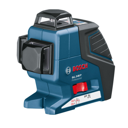 Bosch GLL380PBMCC 3-Multiplane Cross Line Laser with Wall Mount, Ceiling Clamp and L-BOXX - 8