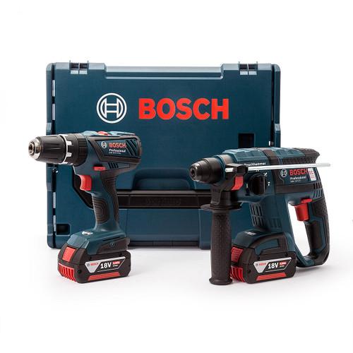 Bosch GBHGSB18 Rotary Hammer Combi Drill Twinpack (2 x 4.0Ah Batteries) in L-Boxx - 5