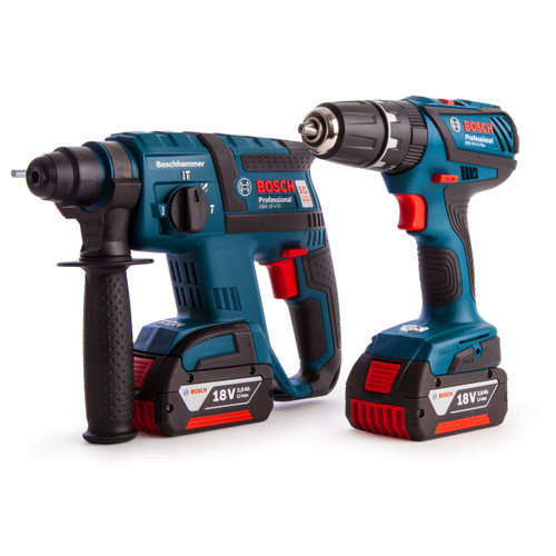 Bosch GBH18V-EC + GSB18-2-LI Plus - 18V Cordless SDS+ Hammer and Combi Drill Twinpack (2 Batteries) in Carry Bag - 4