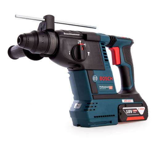 Bosch GBH 18V-26 Brushless Heavy Duty SDS Plus Rotary Hammer (1 x 5.0Ah Batteries) - 6
