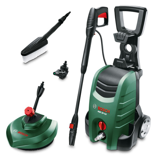 Bosch AQT 37-13 Plus Pressure Washer 130 Bar, 1700 Watt, with 3-in-1 Nozzle, Patio Attachment & Other Accessories - 7