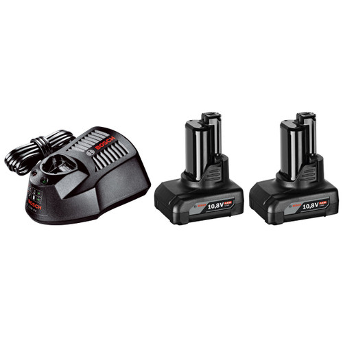 Buy Bosch GBA1084SET (1600Z00047) - 10.8V lli-ion 4Ah Starter Set with 2 Batteries and Charger at Toolstop
