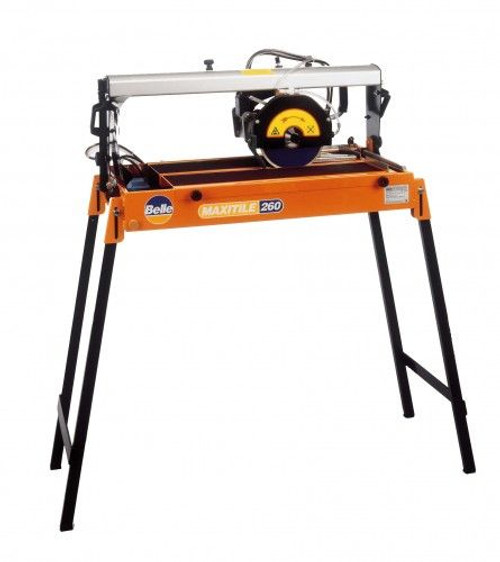 Buy Belle Maxitile 260 Rail Mounted Professional Tile Saw 240V at Toolstop