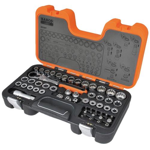 Buy Bahco S530T Pass-Through Socket Set (53 Piece) at Toolstop