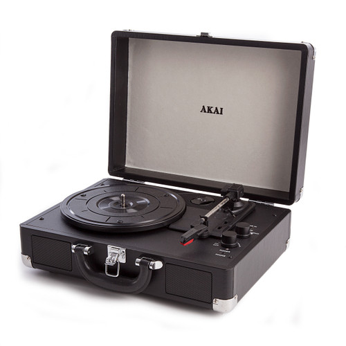 Akai A60011N Bluetooth Rechargeable Turntable 3-Speed in Briefcase Style - 5