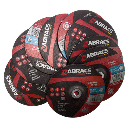 Abracs Proflex PF23060DM Metal Grinding Disc with DPC Centre 230 x 6 x 22mm (Pack Of 10) - 3