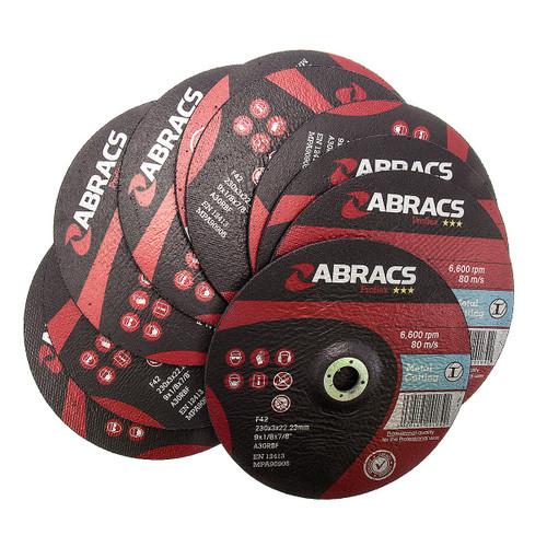 Abracs Proflex PF23030DM Metal Cutting Disc with DPC Centre 230 x 3 x 22mm (Pack Of 10) - 3
