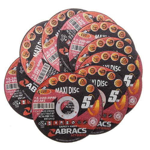 Abracs HY11516FM Multi Cut 5-in-1 Maxi Disc 115 x 1.6 x 22mm (Pack Of 10) - 3