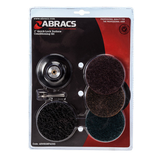 Abracs Quick Lock Surface Conditioning Pack 75mm - 1