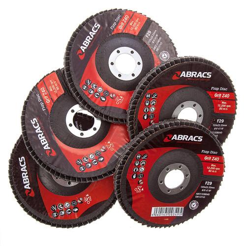 Abracs ABFZ125B-40GR Zirconium Flap Disc with DPC Centre 125 x 22mm 40 Grit (Pack Of 5) - 4