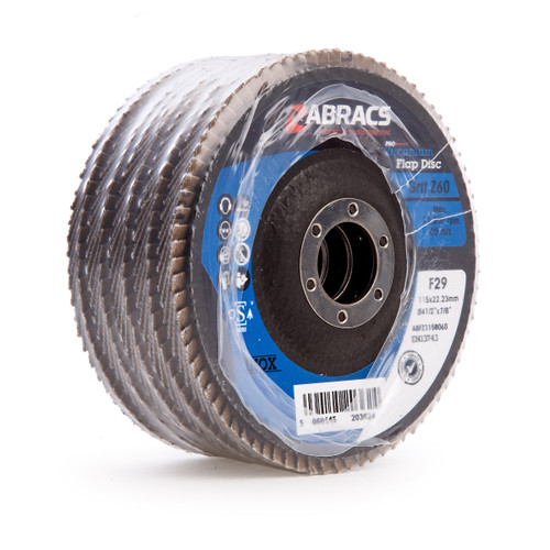 Abracs ABFZ115B060 Pro Zirconium Flap Disc 115 x 22mm 60 Grit (Pack Of 5) - 2
