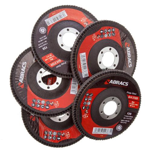 Abracs ABFZ115B-120GR Zirconium Flap Disc with DPC Centre 115 x 22mm 120 Grit (Pack Of 5)  - 4