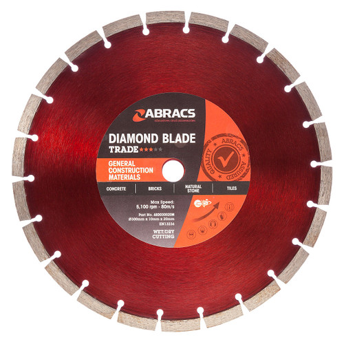Abracs ABDD30020M Diamond Blade General Purpose 300mm x 10mm x 20mm - 2