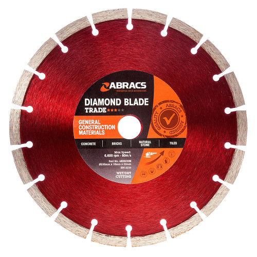 Abracs ABDD230M Diamond Blade General Purpose 230mm x 10mm x 22mm - 2