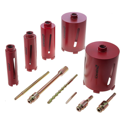 Abracs ABDCORESET5 Dry Diamond Core Set (5 Piece) 42, 52, 65, 117, 127mm - 5