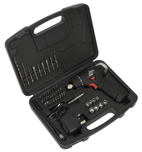 Buy Sealey CP72S 7.2V Cordless Screwdriver with 50 Piece Accessory Set at Toolstop