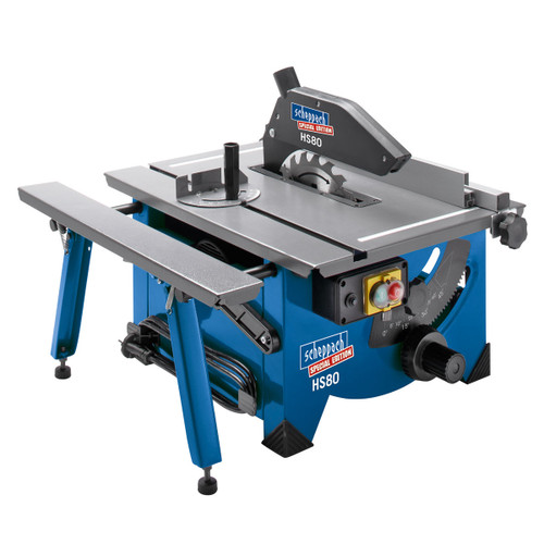 "Buy Scheppach HS80 8"" Table Top Sawbench 240V complete with Sliding side extension for GBP82.5 at Toolstop"