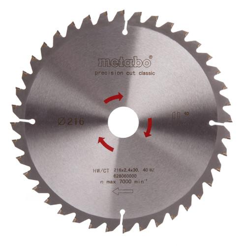 Metabo 6.28060 Circular Saw Blade 216mm x 30mm x 40T - 2