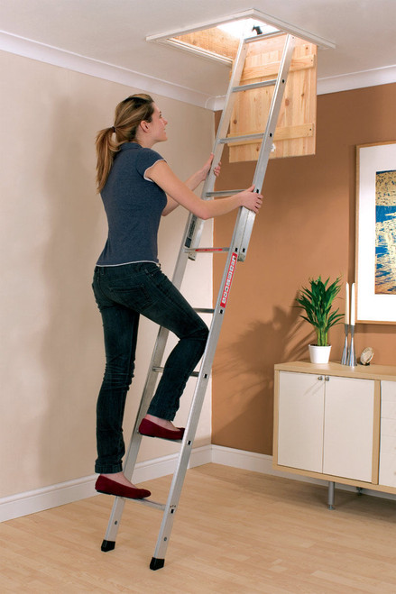 Youngman 302340 Spacemaker 2-Section Loft Ladder - 1