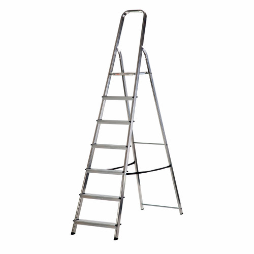 Buy Werner 74007 High Handrail Stepladder 7 Tread (1.48m) at Toolstop