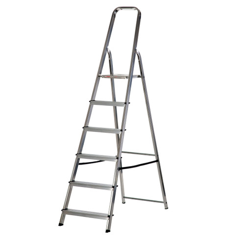 Buy Werner 74006 High Handrail Stepladder 6 Tread (1.25m) at Toolstop